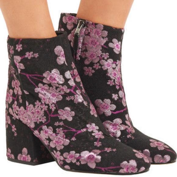 522293c09a6b08 Sam Edelman Taye ankle Boots sz 9M Brocade Floral.  M 5b6762349519964e2e9cc9d9